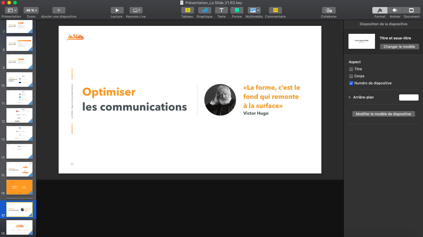 Interface Keynote et PowerPoint